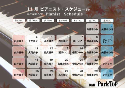 ピアニスト11月